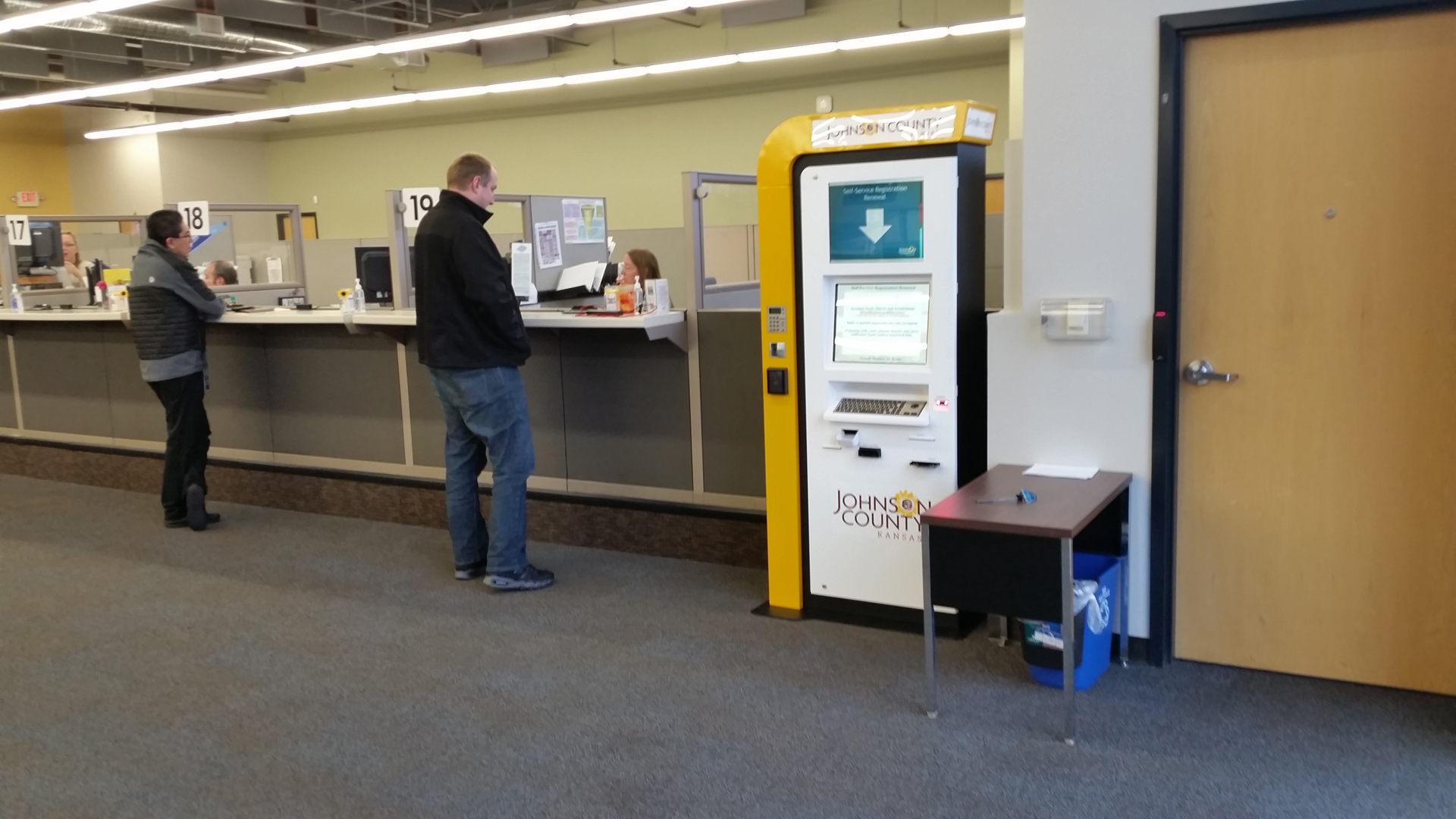 motor vehicle registration bill payment kiosk