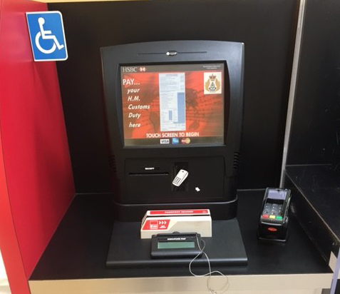 Customs Payment Kiosk