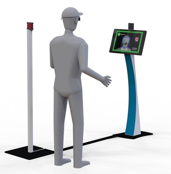 Personnel Temperature Check-In Kiosk