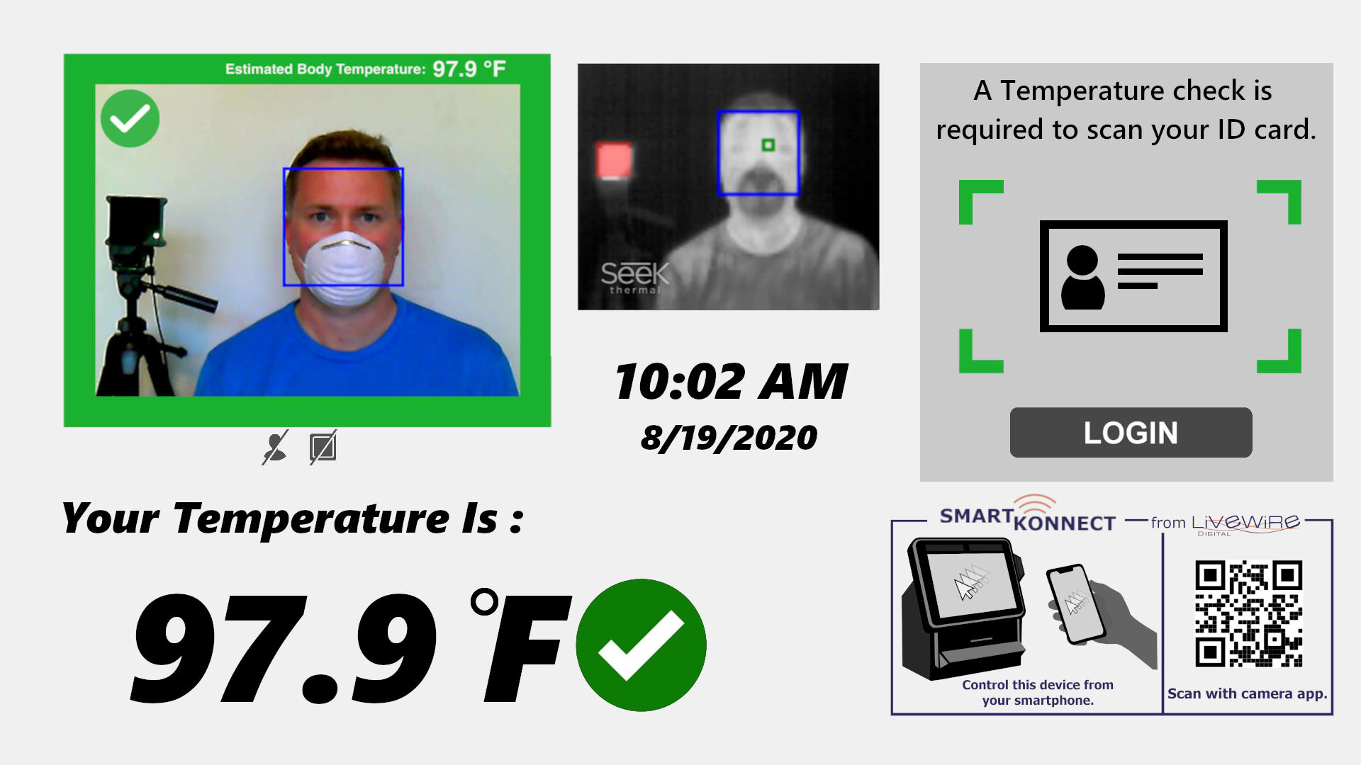 Temperature Scanning Kiosk Screen
